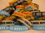 Save Deez Nuts 3/4 Inch Silicone Wristband-Single